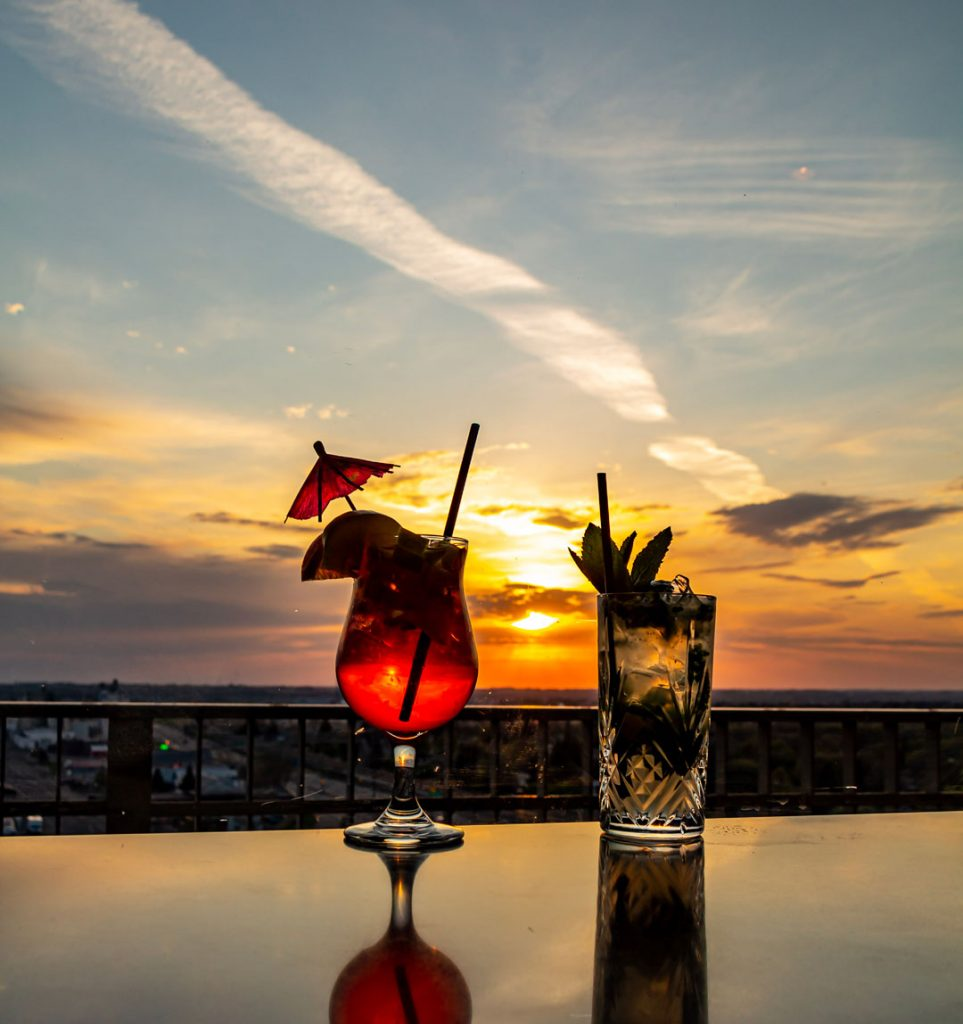 Cocktails at Sunset